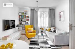 Salas de estar escandinavas por dziurdziaprojekt
